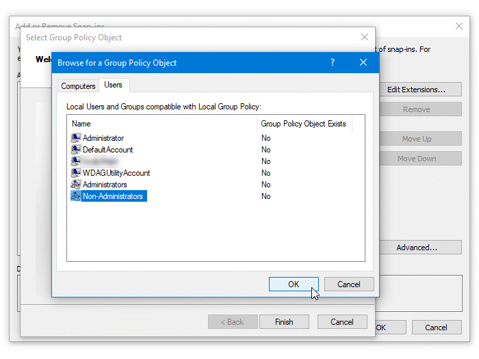 Apply Group Policy to Non-Administrators only