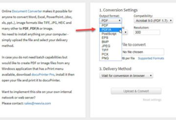 Best online PDF to PDFA converter tools