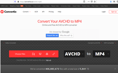free software to convert avchd to mp4