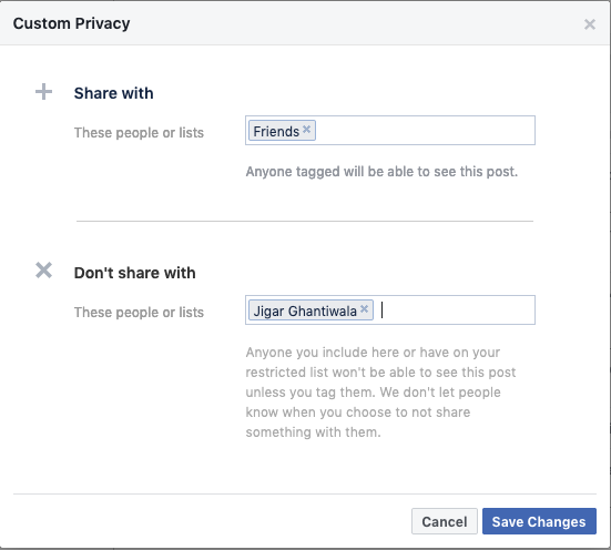 Facebook Privacy Sharing