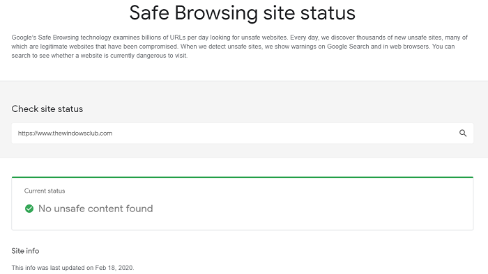 How to check if a Website or URL is safe