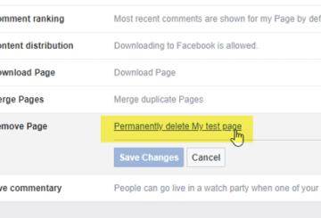 How to delete a Facebook page permanently