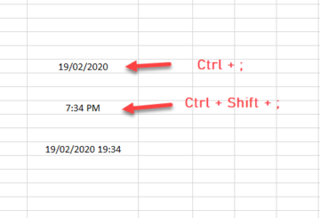 How to display current date and time in Excel and Google Sheets