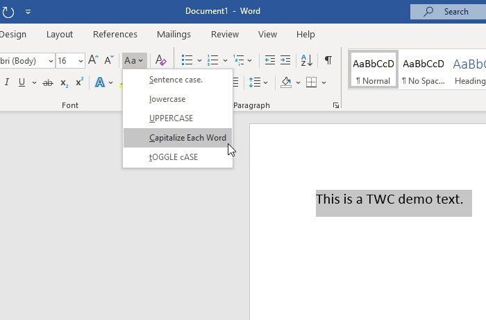 How to change the Case of Text in Word and Google Docs