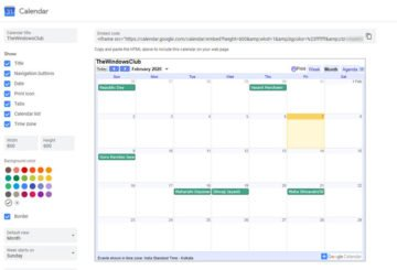 Embed Google Calendar on any webpage
