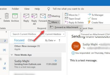 How to forward email as an attachment from Outlook