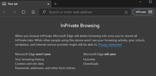 InPrivate Browsing URL Check