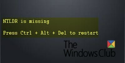 NTLDR is missing, Press Ctrl-Alt-Del to restart