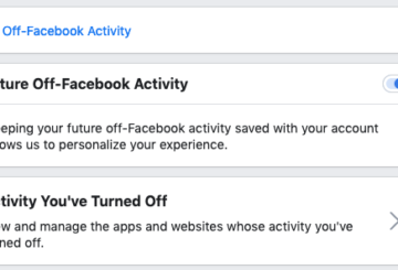 Turn off future off-Facebook activity