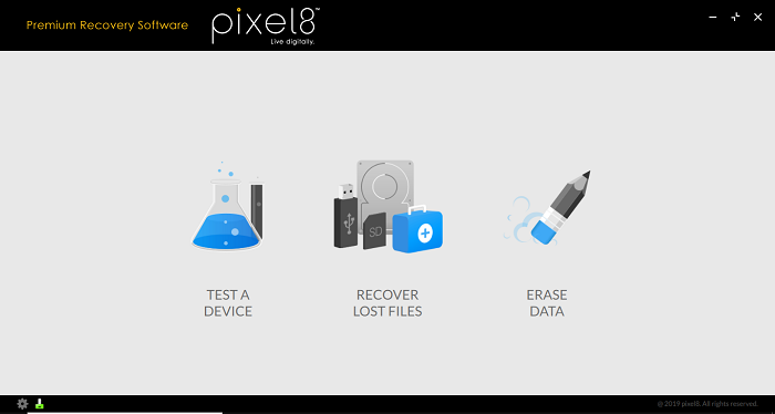 Pixel18 Seagate Premium Recovery Scan Options