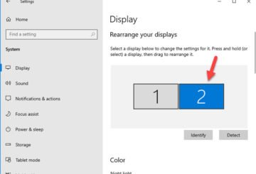 Set different scaling level for the second monitor in Windows 10