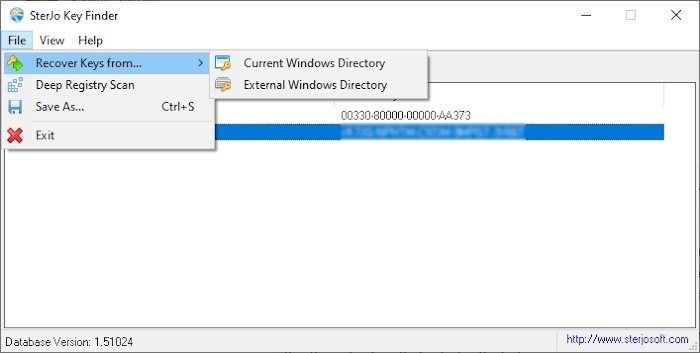 Recover software licenses & keys with Sterjo Key Finder
