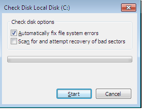 Windows Error Checking Tool to repair bad sectors