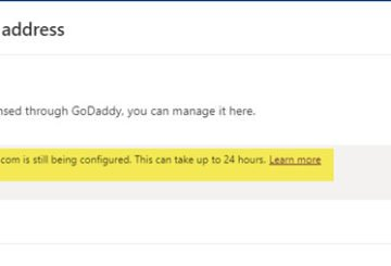 Your domain is still being configured. This can take up to 24 hours