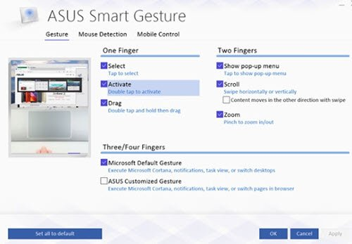 ASUS Smart Gesture Touchpad not working
