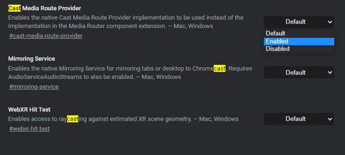 Cast Media to device is not working on Edge