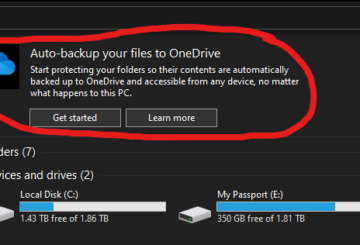 Disable Auto backup OneDrive Notification