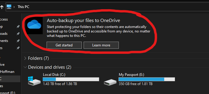 Auto backup your files to OneDrive