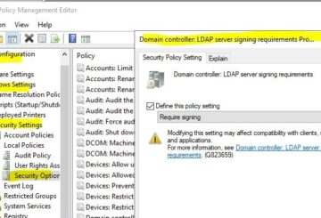 How to enable LDAP signing in Windows Server & Client Machines