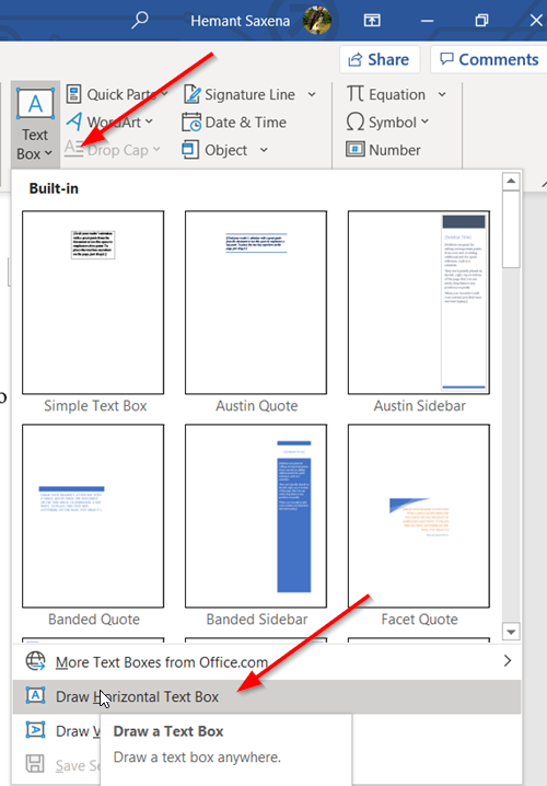 Change Text Direction by rotating texts in Microsoft Word
