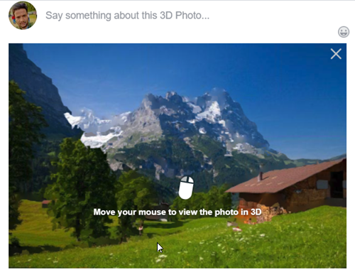 How to post a 3D Photo on Facebook