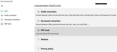 File Conversion Tools