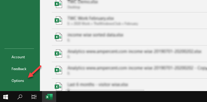 Hide or change the number of recent files in Word, Excel, PowerPoint