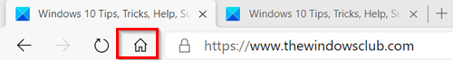 Add Home button to Edge