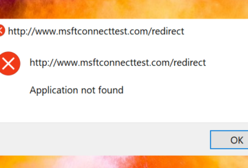 How to remove msftconnecttest redirect error