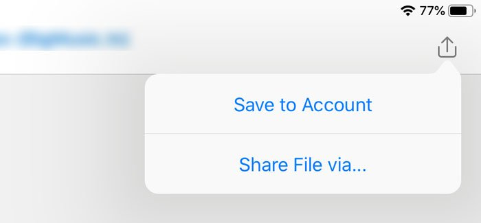 How to save Outlook attachments in Google Drive on iPad