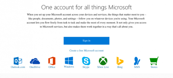 link GitHub or Google account with Microsoft Account