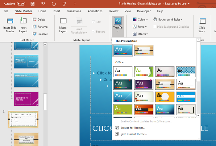How to format and change Slide layout in PowerPoint at once