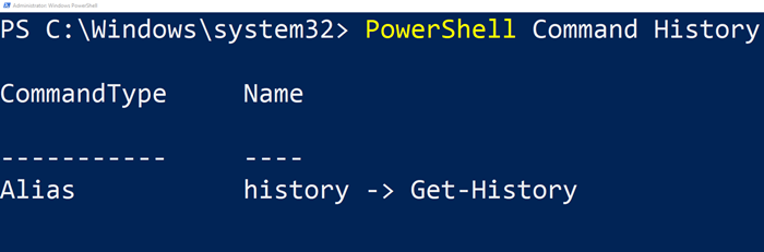 See PowerShell command History