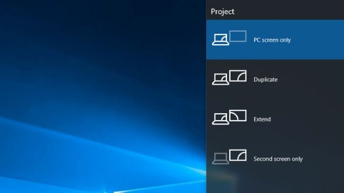 Windows 10 auto reverts Second Screen or Projector Mode to Last active selection