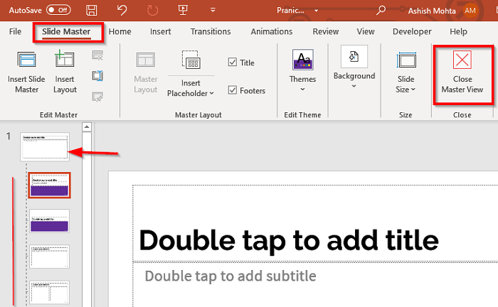Change the formatting of the complete PowerPoint Presentation