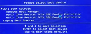 UEFI Boot Sources