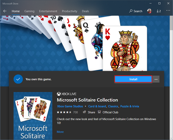 Microsoft Solitaire Collection won't open