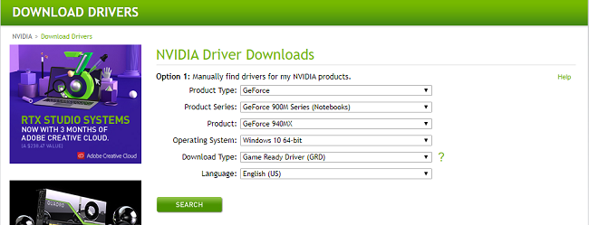 search_nvidia_device_driver