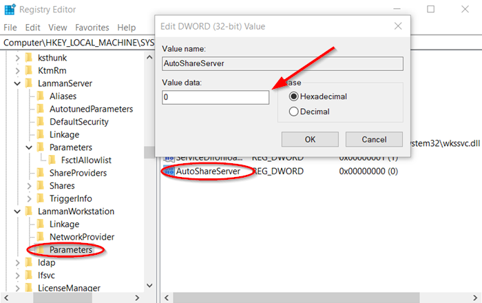 Disable Administrative Shares