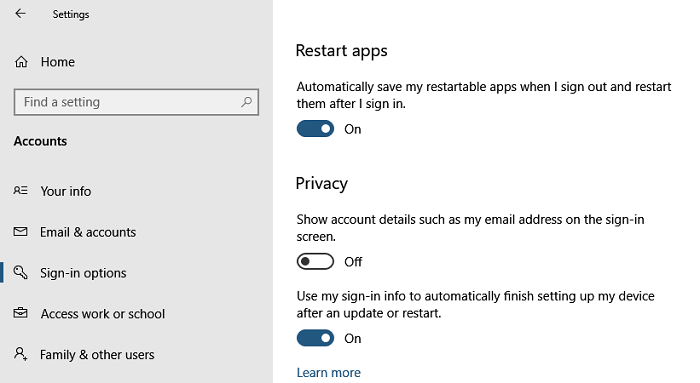 Automatically Restart Apps after sign-in