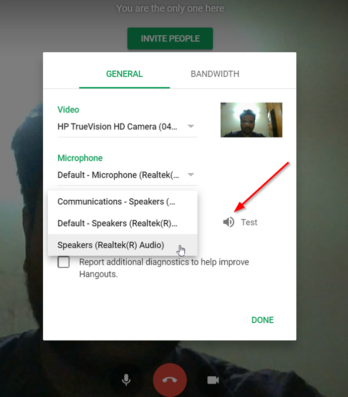 Google Hangouts audio or video call not working