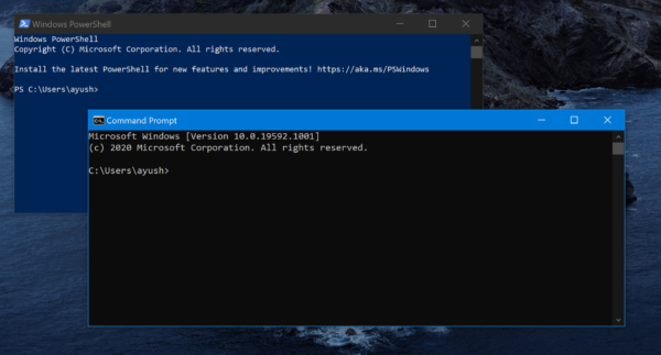 Reset PowerShell and Command Prompt to default settings