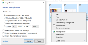 PowerToys: Image Resizer, Window Walker, Markdown and SVG Preview in Windows 10