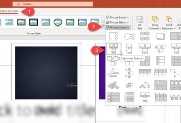 How to create or insert a photo collage in PowerPoint