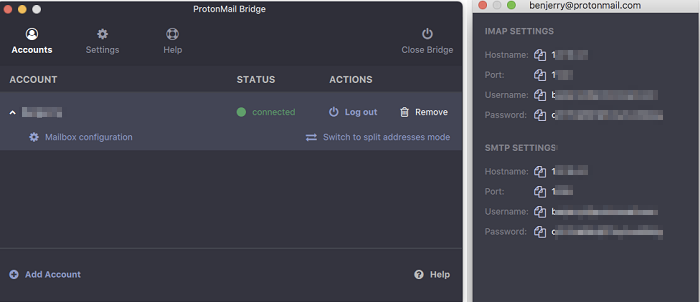 Protonmail email client