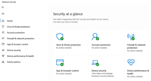Windows 10 Security features list
