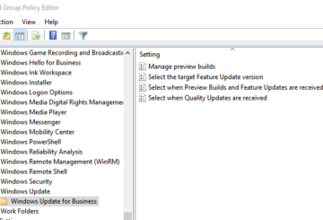 Policy to deploy updates using Windows Update for Business