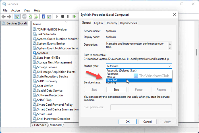 Enable or Disable SysMain & Prefetch for SSD in Windows 11/10