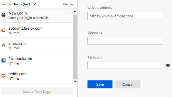 find and manage Saved Passwords