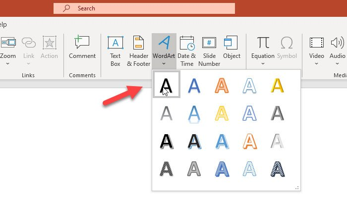 How to insert curved text in PowerPoint
